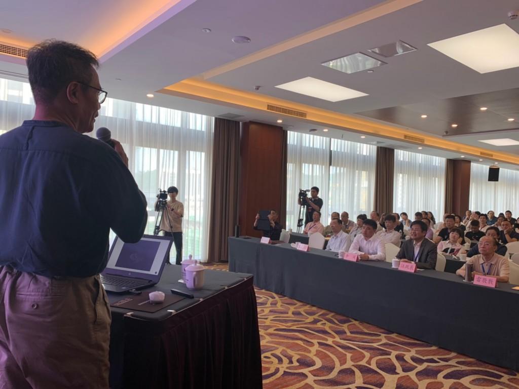 於5月份在中國浙江兩岸賞石文化交流展發表創作演講_1